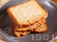 Рецепта Домашен картофен хляб с прясно мляко, картофено пюре на прах и суха мая за хлебопекарна